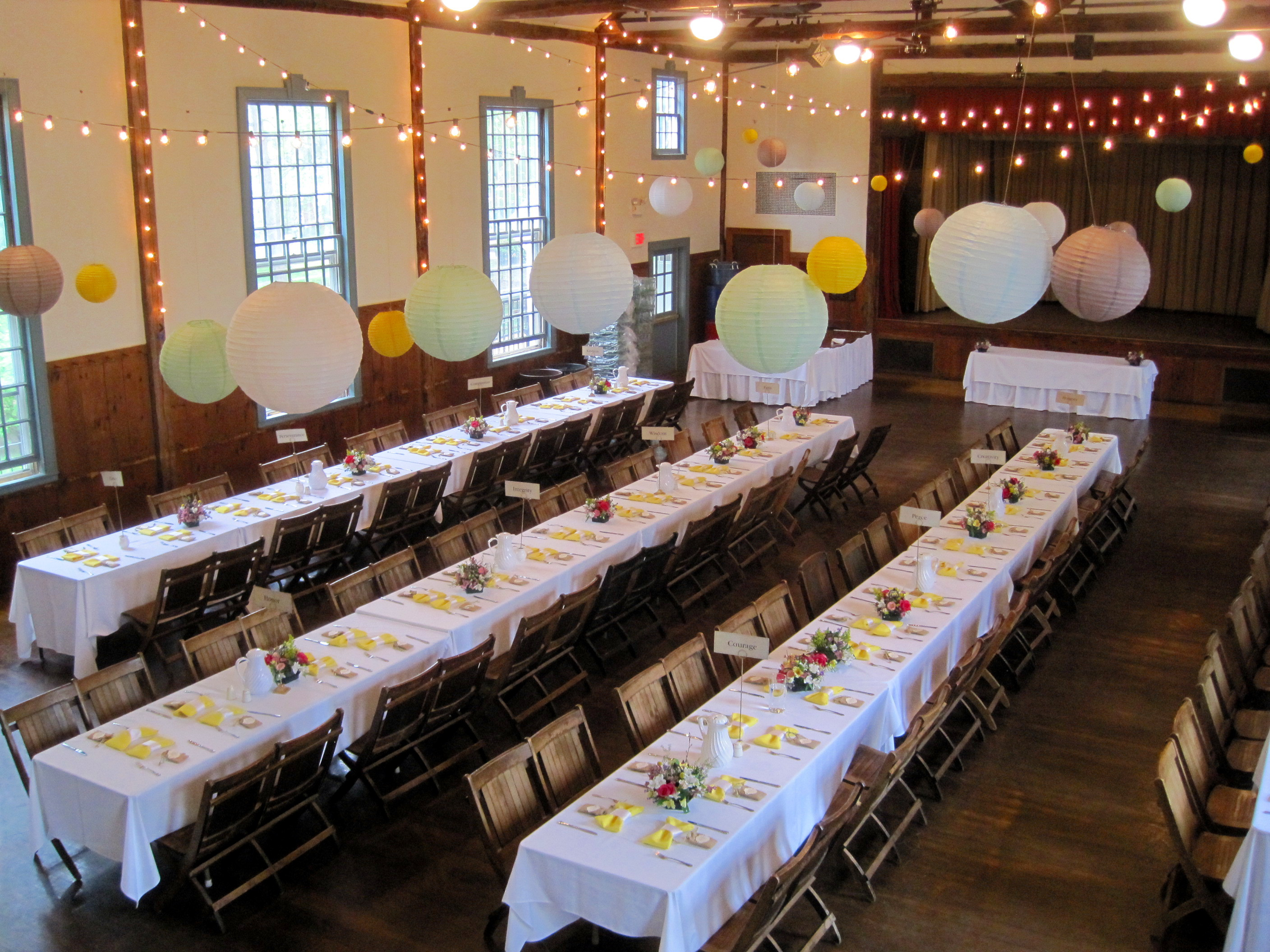 Image of Hall Decorated for a Wedding