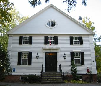 Front view of the Concord Scout House building